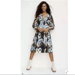 Anthropologie Arden Tie-Dye Midi Dress NWT XL HTF